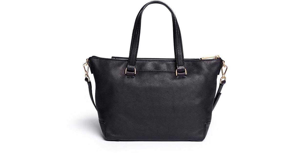 Michael Kors  mackenzie  Medium Leather Bag in Black - Lyst bc52736a2b3f8