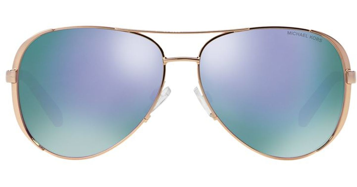 c00da58891d Michael Kors Chelsea Pilot Sunglasses in Blue - Lyst