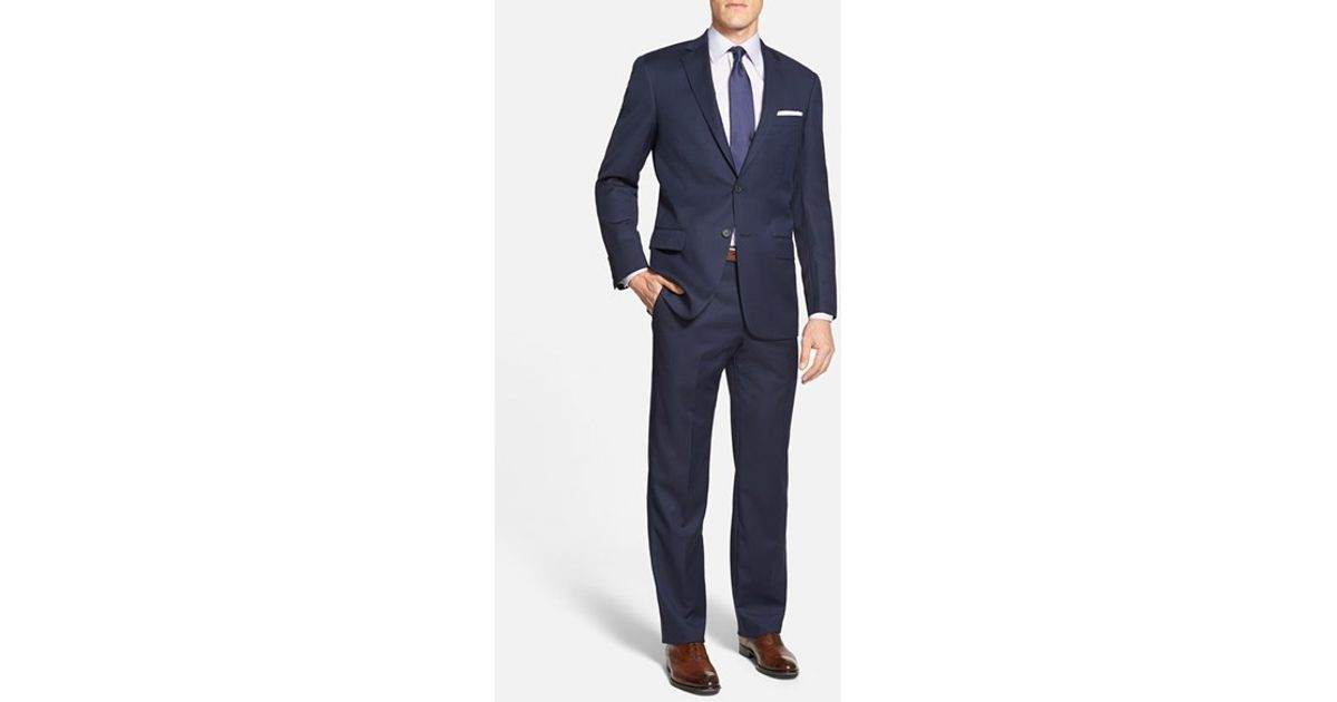 ab7bcc73fb5 Hart Schaffner Marx  new York  Classic Fit Stripe Wool Suit in Blue for Men  - Lyst
