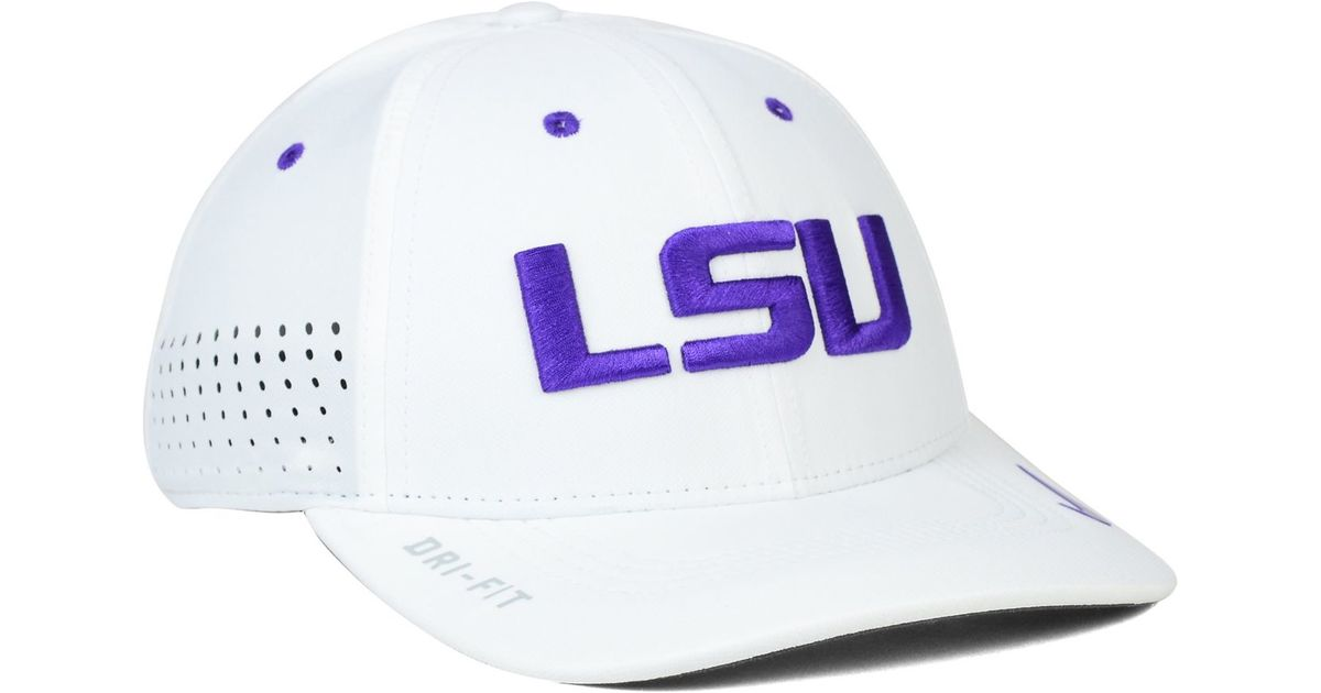brand new 7a828 007b0 Nike Lsu Tigers Sideline Cap in White for Men - Lyst