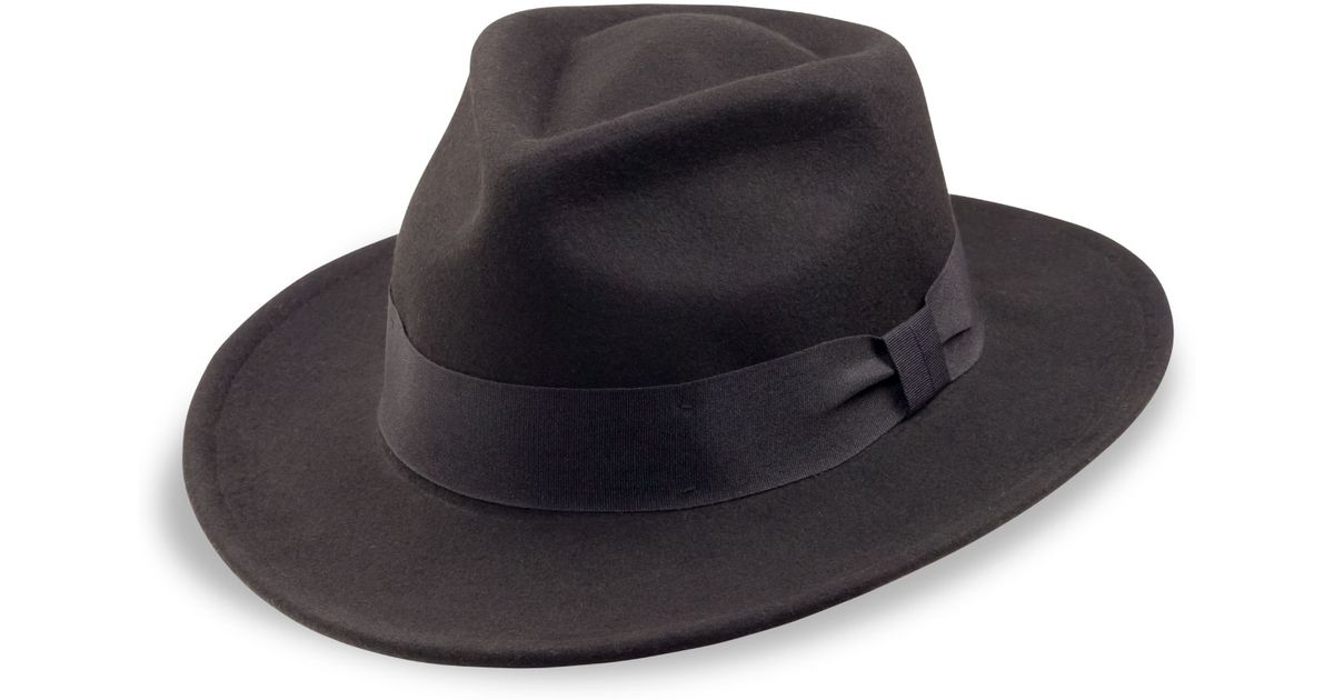 67a7b140383 Lyst - 7 For All Mankind Goorin Bros F. Fratellis Hat In Black in Black for  Men