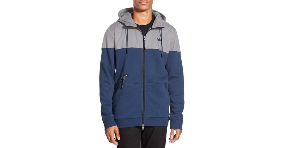 Lyst - adidas Originals  sport Luxe  Trim Fit Zip Hoodie in Blue for Men 528ca6067
