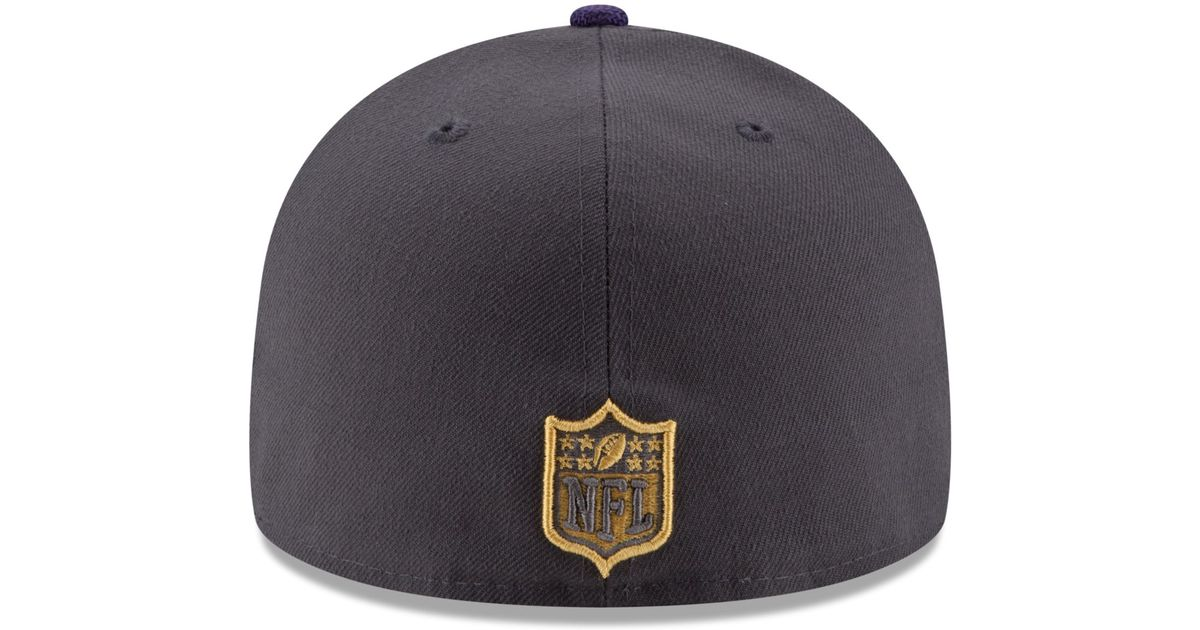 Lyst - Ktz Baltimore Ravens Gold Collection On-field 59fifty Cap in Black  for Men 1022fb01edfa