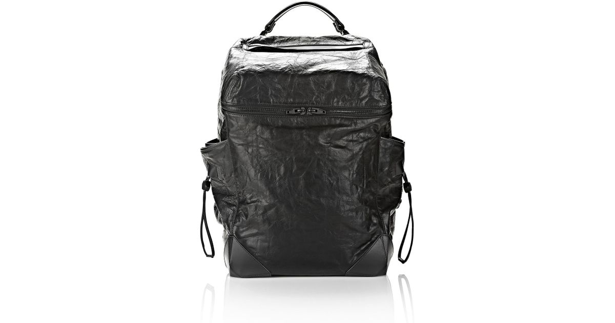 55dfc96430 Lyst - Alexander Wang Wallie Backpack In Waxy Black With Matte Black in  Black for Men
