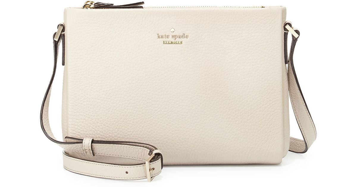 6057aee092 Kate Spade Holden Street Lilibeth Leather Bag in White - Lyst
