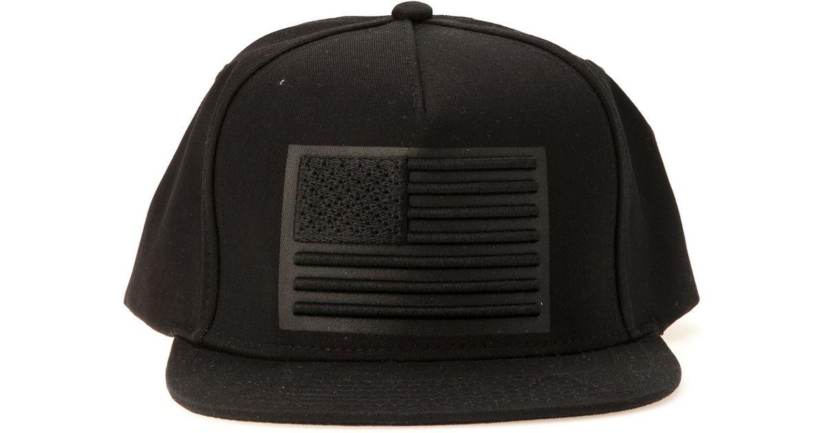 Lyst - Stampd 3d American Flag Hat in Black for Men 5064116c482