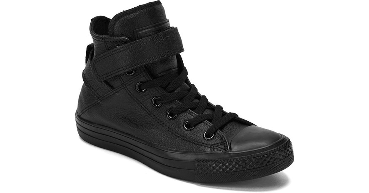 how to wear black leather trainers womens
