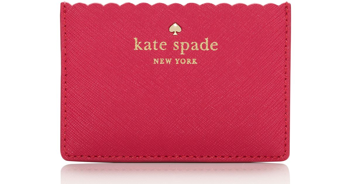 Lyst - Kate Spade New York Lily Avenue Card Holder in Pink