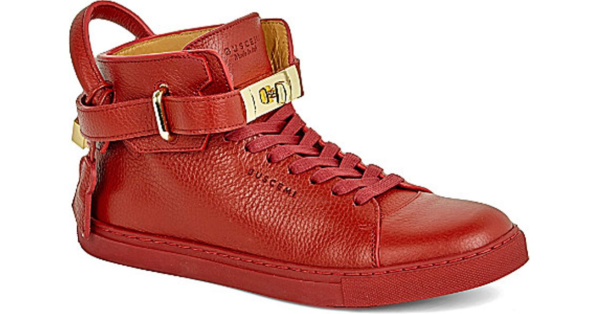100mm high-top leather trainers Buscemi 4GbgL