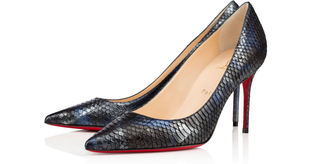 bc91e2dbb3b0 Lyst - Christian Louboutin Decollete 554 Python Crystal in Black