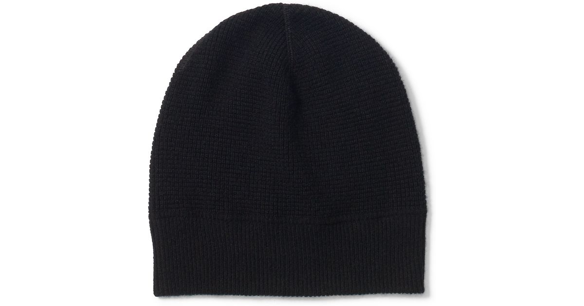 Lyst - Polo Ralph Lauren Waffle-knit Cashmere Hat in Black for Men ebe096bfc12