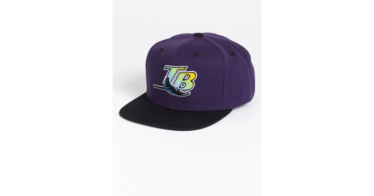 huge discount d5d28 2c164 American Needle  tampa Bay Rays - Back 2 Front  Snapback Baseball Cap -  Purple in Blue for Men - Lyst