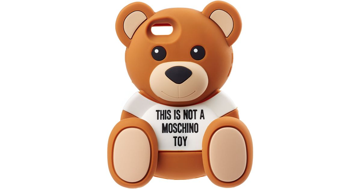 on sale 74f06 4f31a Moschino Brown Teddy Bear Iphone Case For Iphone 6