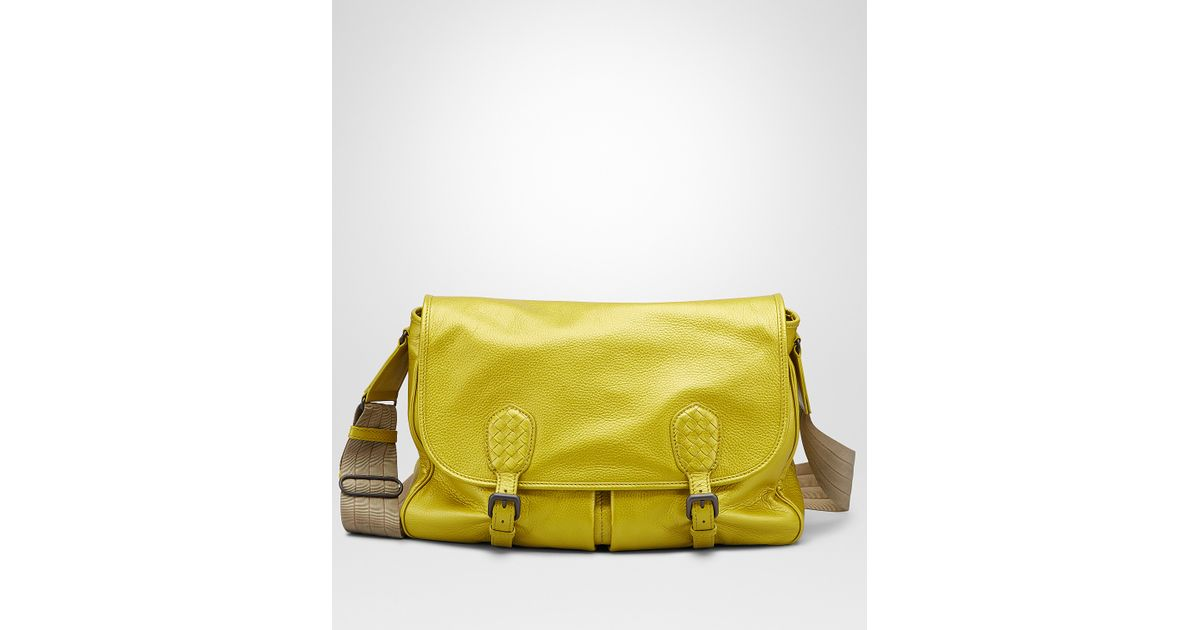 Lyst - Bottega Veneta New Chartreuse Cervo Metal Gardena Bag in Yellow d3d451fb7d