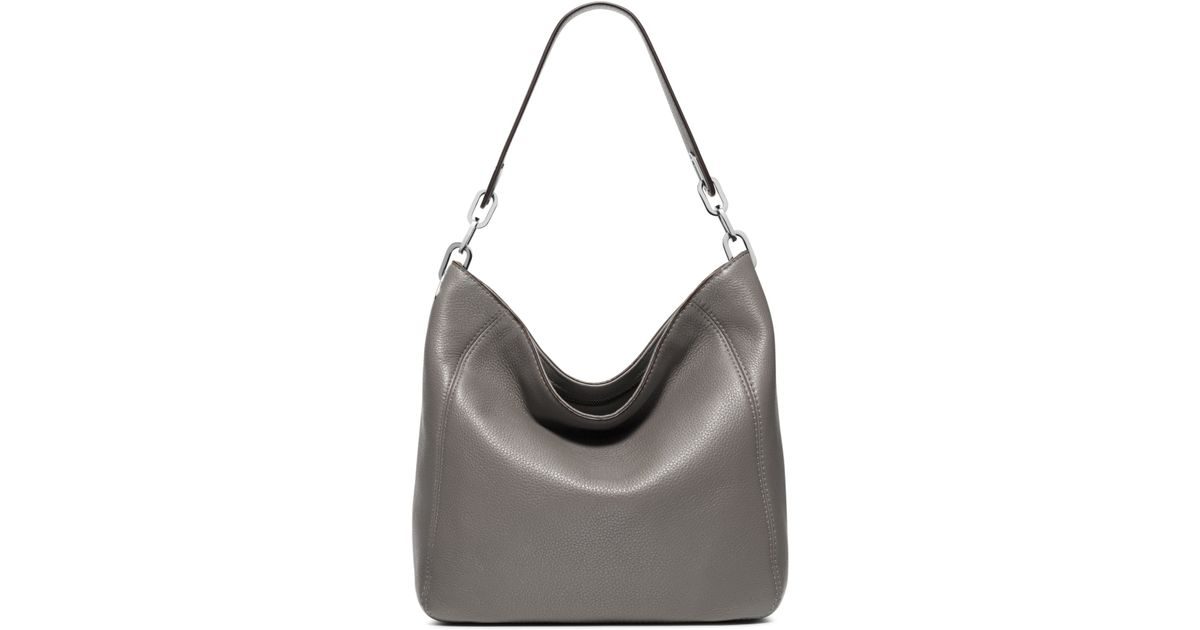 7904805497f4 Michael Kors Fulton Medium Leather Shoulder Bag in Gray - Lyst