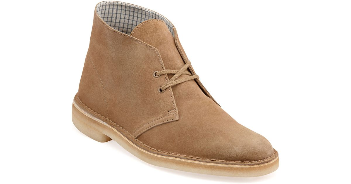 clarks desert suede chukka boots in brown for oakwood
