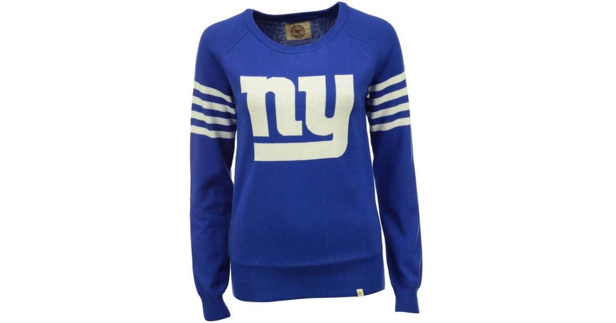 4f55f088 47 Brand - Blue Women's New York Giants Drop Needle Sweater - Lyst