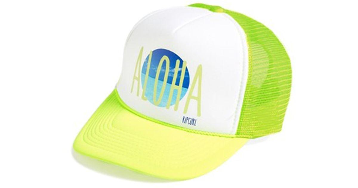 Lyst - Rip Curl  more Aloha  Trucker Hat in Green ff06cbcb513