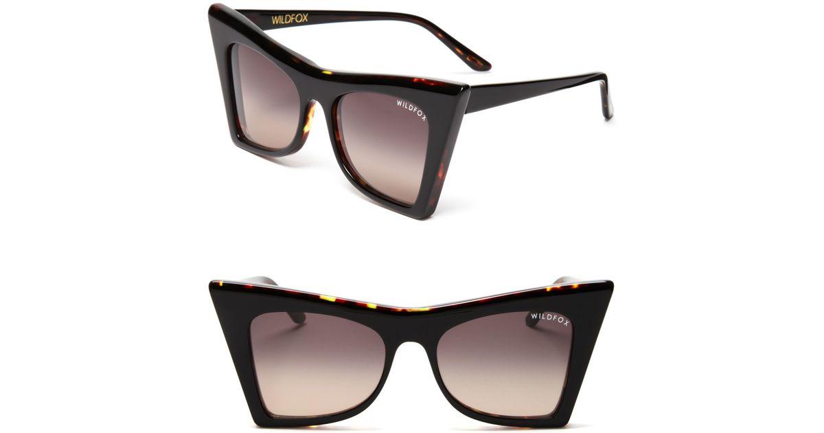 09a3dc33b19d0 Wildfox Ivy Sharp Cat Eye Sunglasses in Black - Lyst