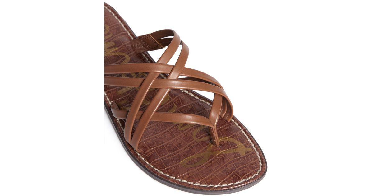 9f320edc8 Sam Edelman  georgette  Strappy Slide Sandals in Brown - Lyst