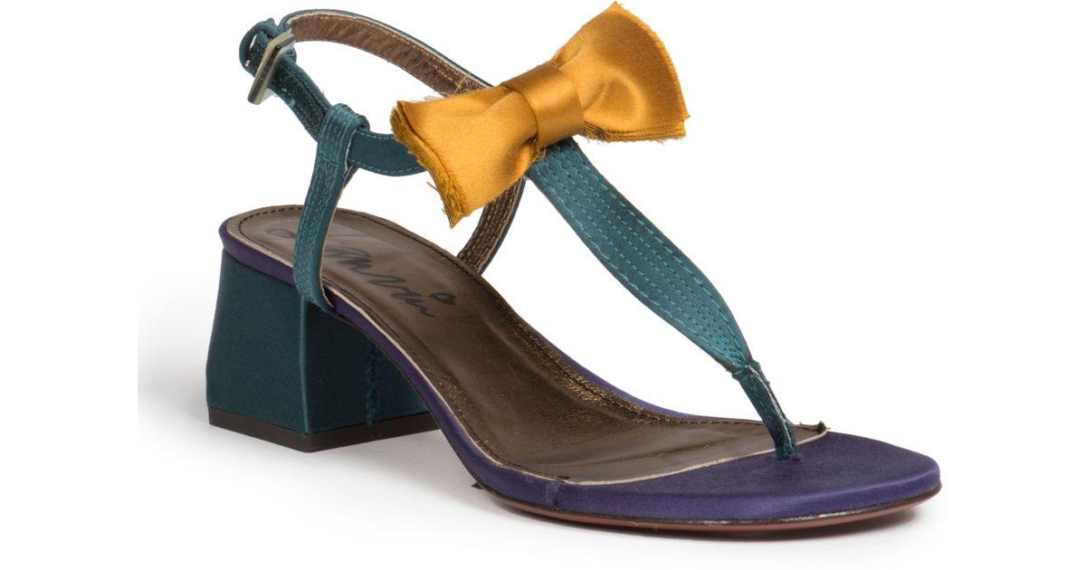 Lanvin Satin T-Strap Sandals cheap sale new QkfYAWm