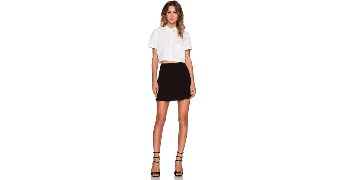 c853f6f53 Lyst - Marc By Marc Jacobs Stretch Poplin Crop Top in White