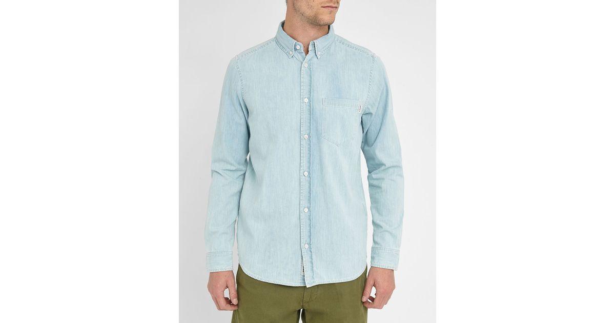 Carhartt Wip Light Blue Denim Civil Shirt In Blue For Men