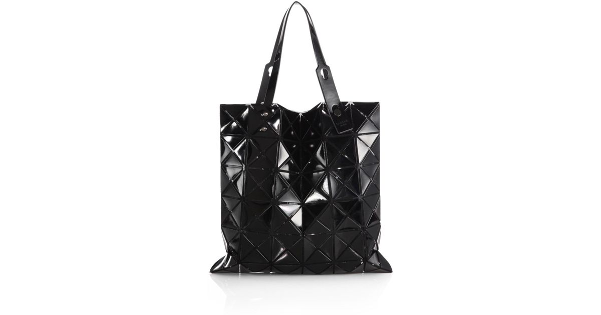 Lyst - Bao Bao Issey Miyake Lucent Basic Faux-Leather Tote in Black 63aa5da52c182