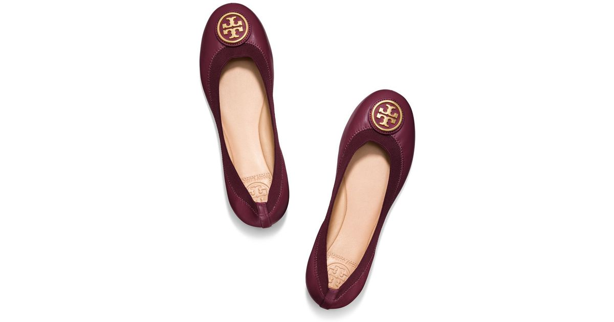 4336770f42c0 Lyst - Tory Burch Caroline Ballet Flat in Red