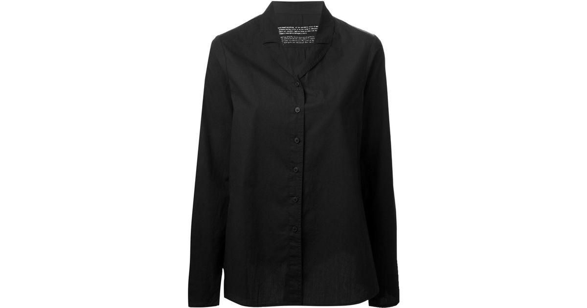 470ce9c604adcc Rundholz Lapel Collar Shirt in Black - Lyst