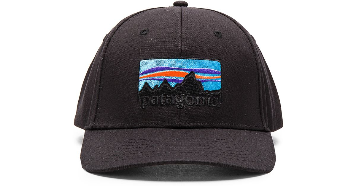 Lyst - Patagonia  73 Logo Roger That Hat in Black cfc910d67ce