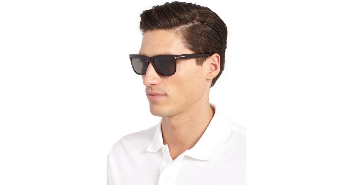 62555da04 Tom Ford Havana Polarized Sunglasses in Black for Men - Save 4% - Lyst