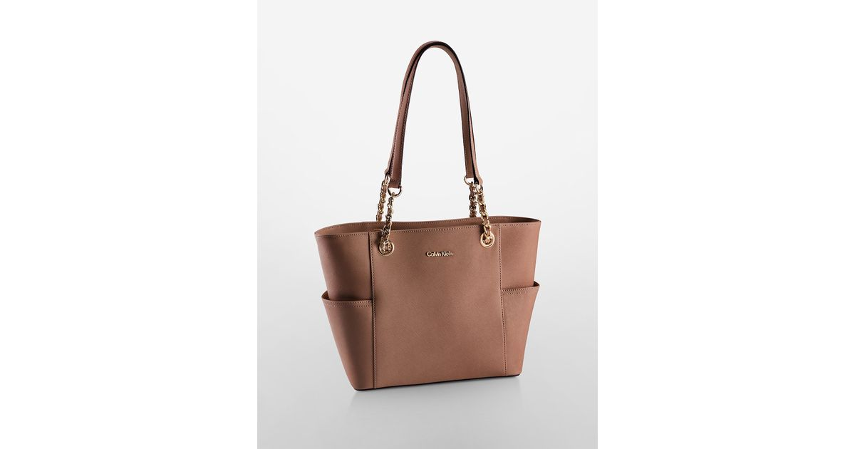 Calvin Klein Tote Bag Leather