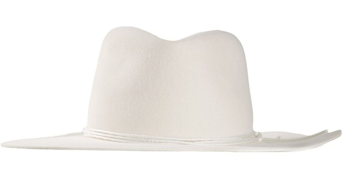 Lyst - Off-White c o Virgil Abloh Fedora Hat in White 6731e7e8da8