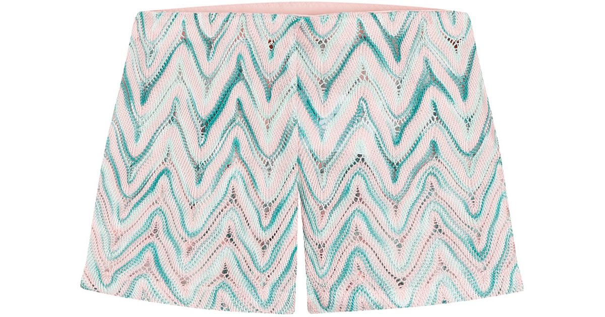 Missoni Zigzag Print Shorts Multicolor Lyst