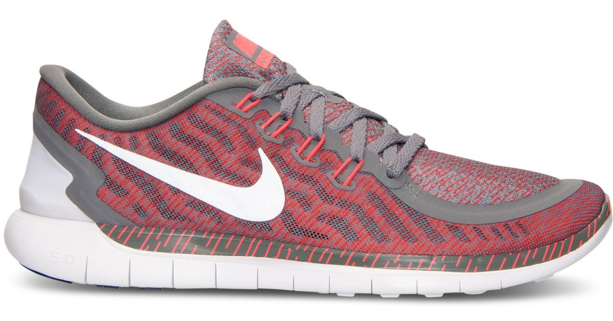 2b3bd4074f5a Lyst - Nike Men s Free 5.0 Print Running Sneakers From Finish Line in Red  for Men
