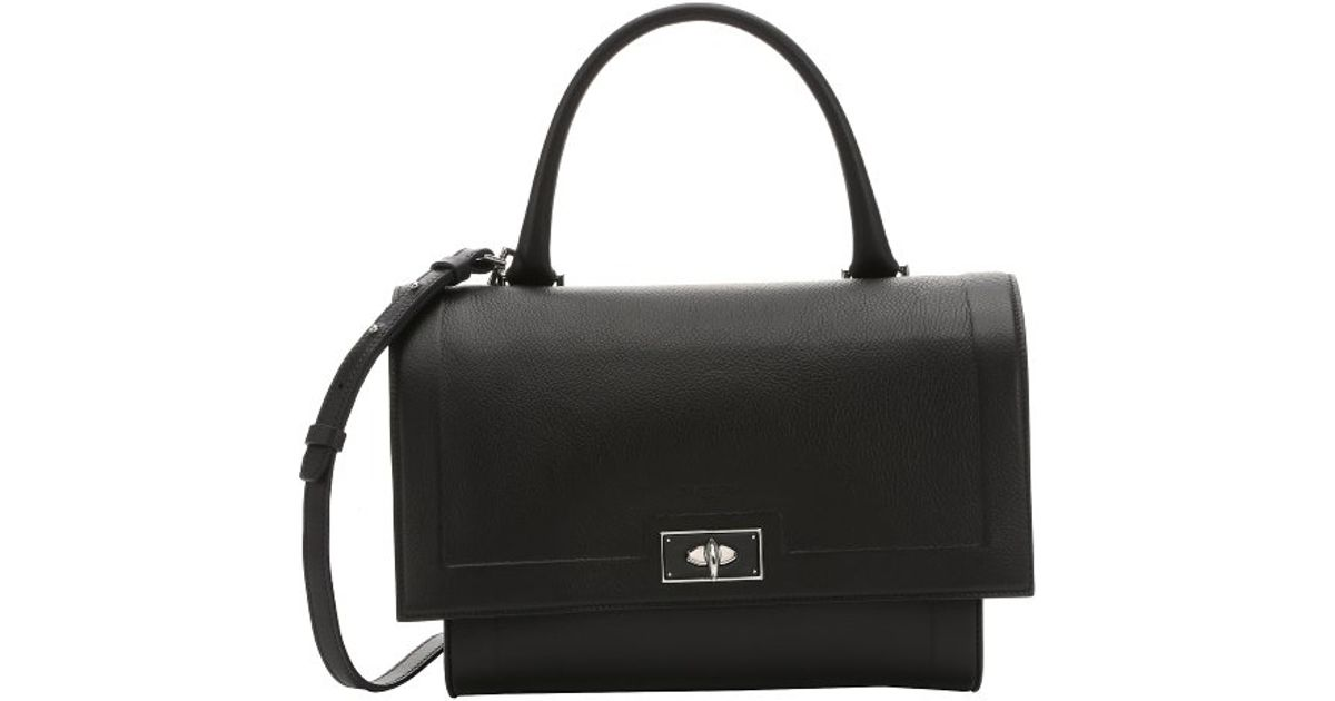d638a7ab879c Lyst - Givenchy Black Calfskin Small  shark  Convertible Top Handle Bag in  Black