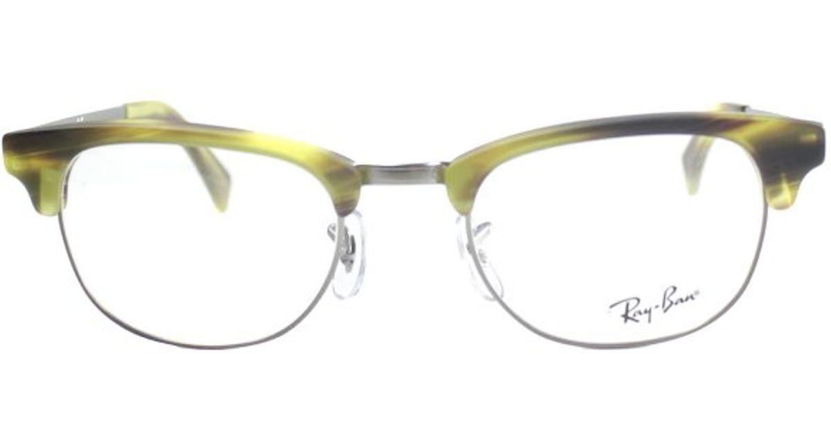 43e0672adf ... store ray ban ray ban rx5294 clubmaster 5430 matte striped yellow  havana and gunmetal plastic eyeglasses