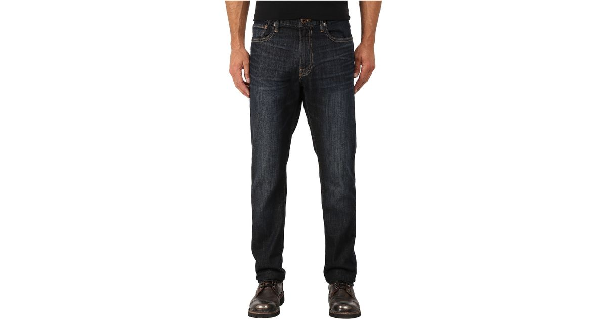 Lucky brand 410 athletic fit in barite in blue for men lyst for Dress shirts for athletic build