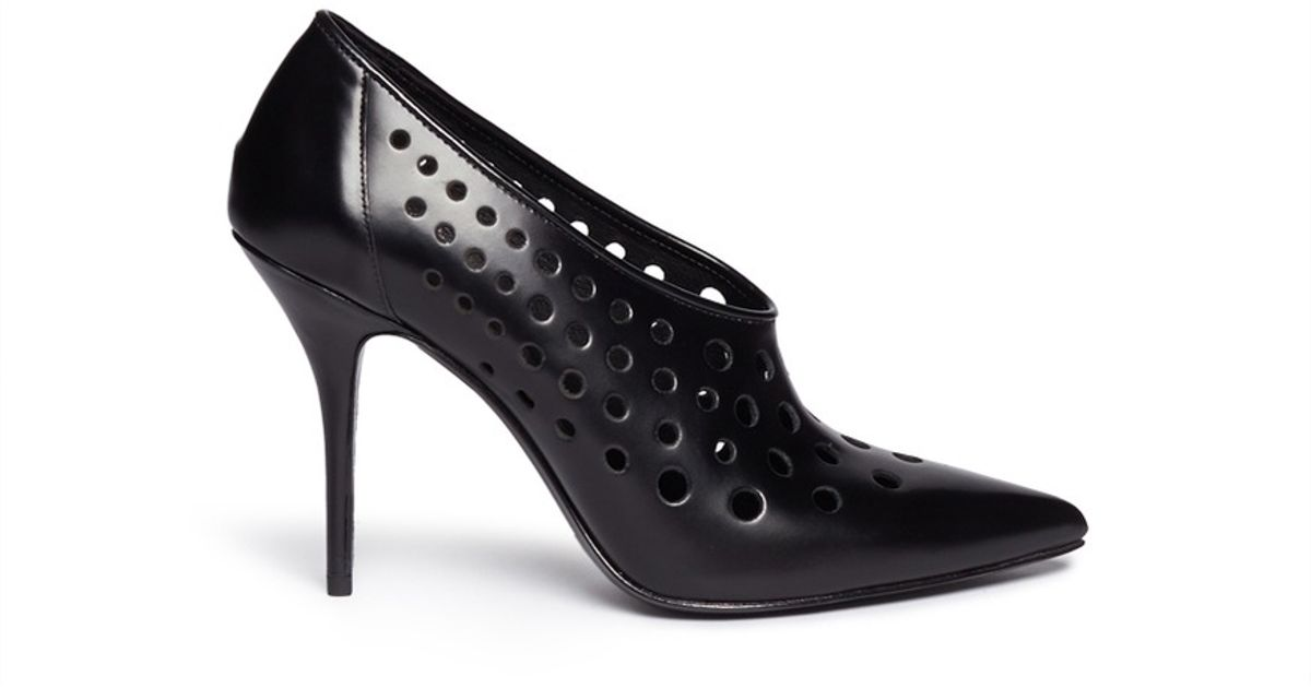Alexander Wang Black 'magdalena' Perforated Leather Pumps Lyst