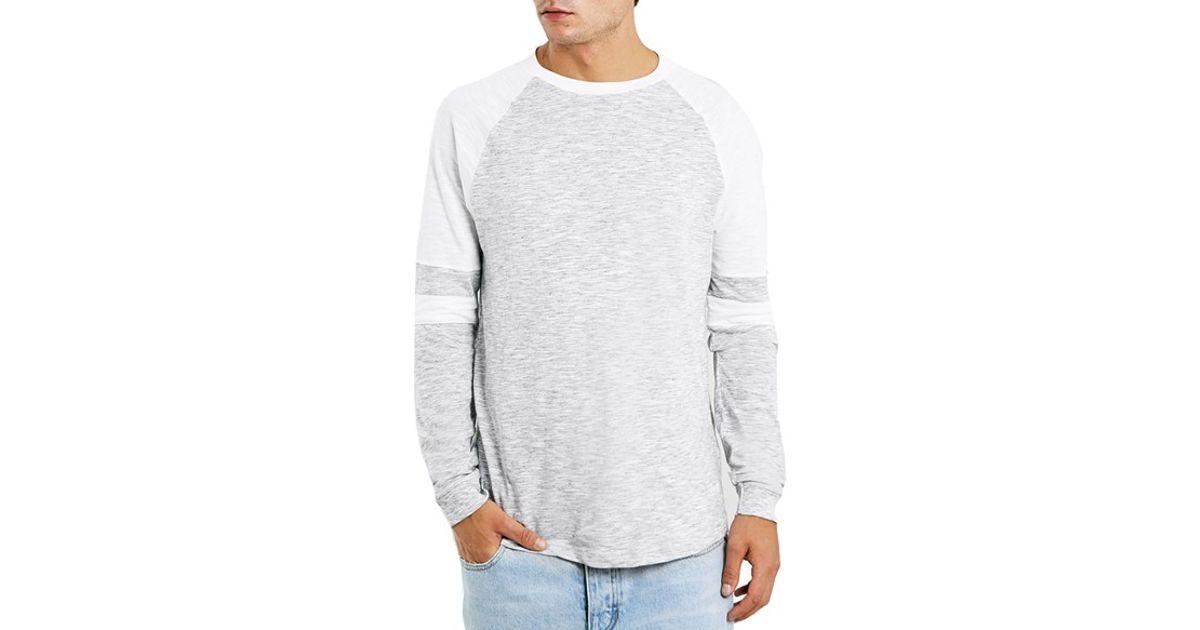 Lyst Topman Colorblock Raglan Long Sleeve T Shirt In