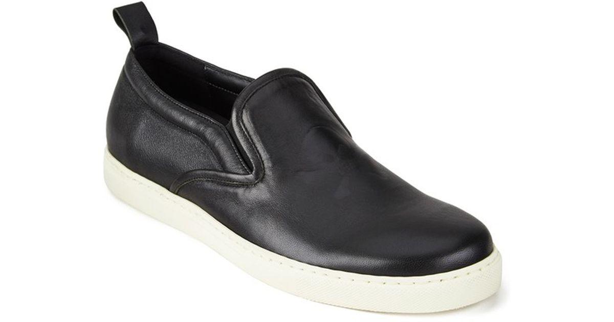 fd39808eeeb74 Vivienne Westwood Men'S Slip On Leather Trainers in Black for Men - Lyst