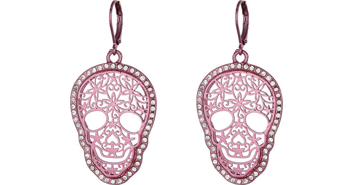5aff6b401fe Betsey Johnson Skull Earrings - Best All Earring Photos Kamilmaciol.Com