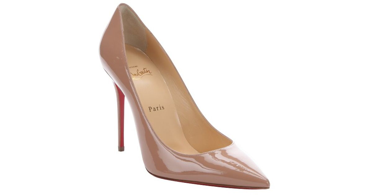 d7257a4828ec Christian Louboutin Nude Patent Leather  decollete 554 100  Pumps in  Natural - Lyst
