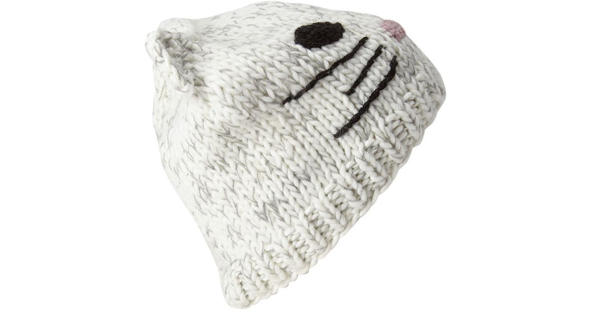 34a832cc03e Lyst - Forever 21 Cat Ears Beanie in Natural