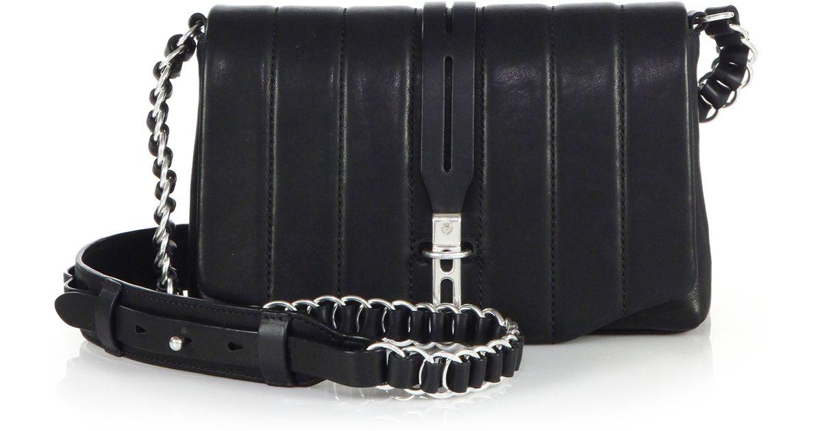 a137032a7e0f2 Lyst Rag Bone Enfield Mini Quilted Crossbody Bag In Black