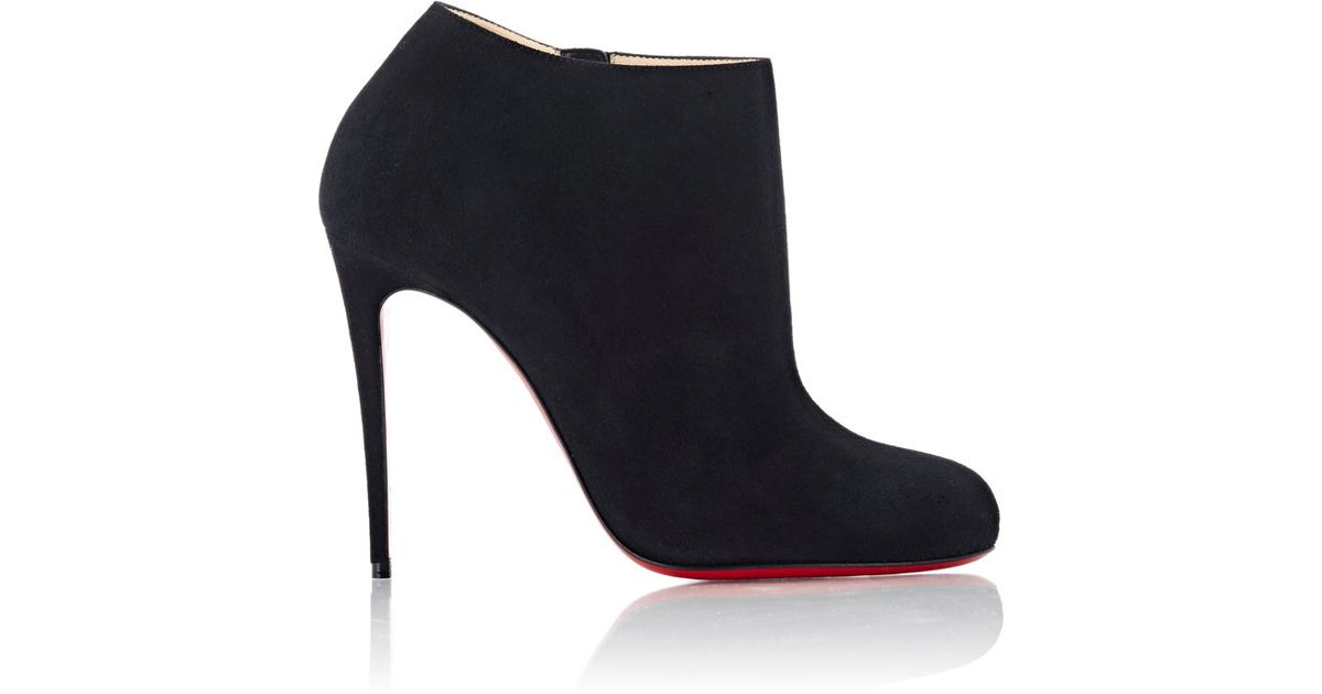 4f8b26b71aa Lyst - Christian Louboutin Women s Suede Bellissima Ankle Booties in Black