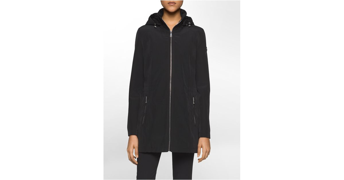 Calvin klein hooded rain jacket