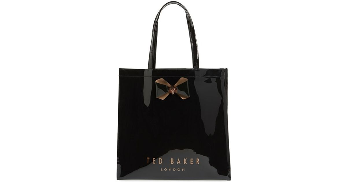 db2491d62b Lyst - Ted Baker 'large Plain Bow Icon' Tote in Black