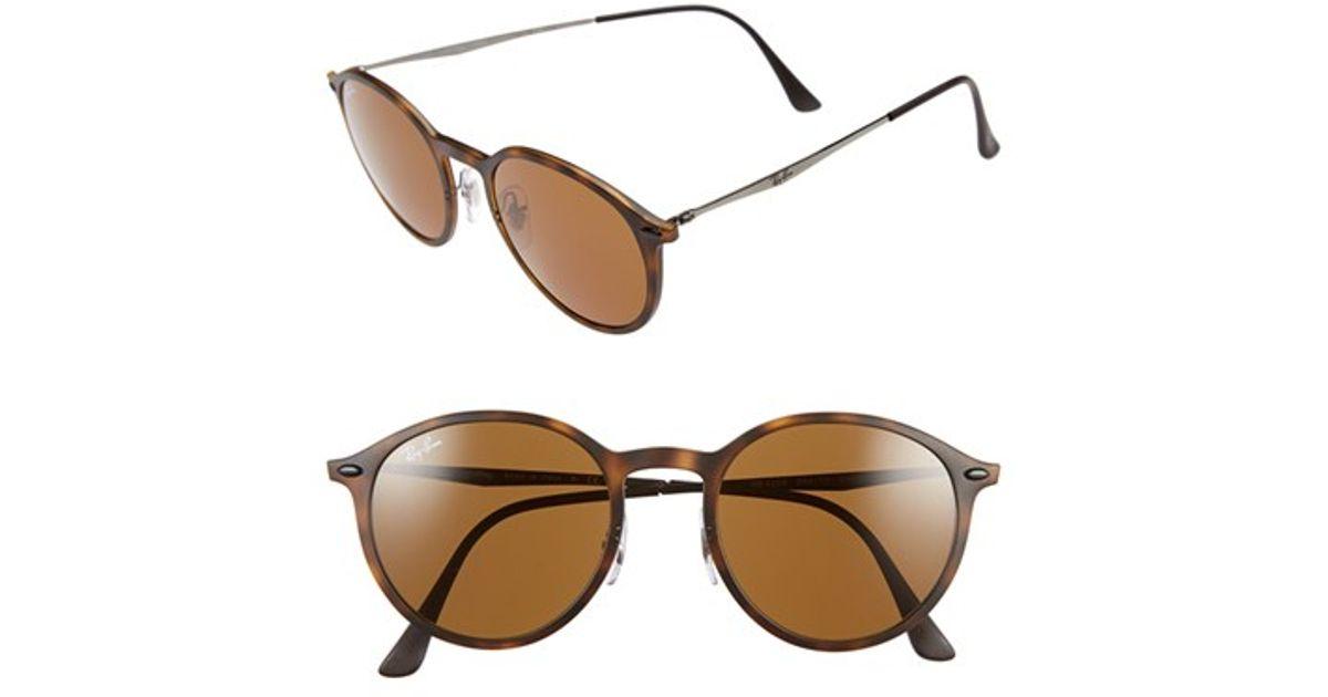 57b1acbec Ray-Ban 'tech Light-ray' 49mm Sunglasses - Havana in Brown - Lyst